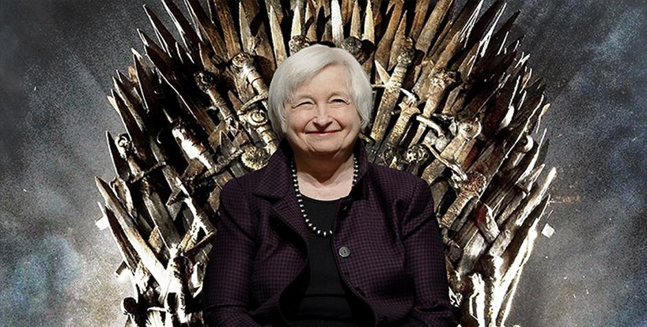 Janet Yellen, à la tête du système de monnaie-dette aux Etats-Unis